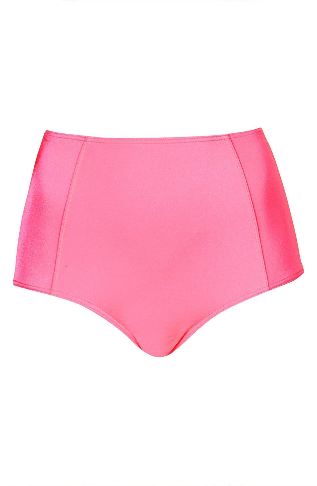 Main Image - Topshop High Waist Bikini Bottoms