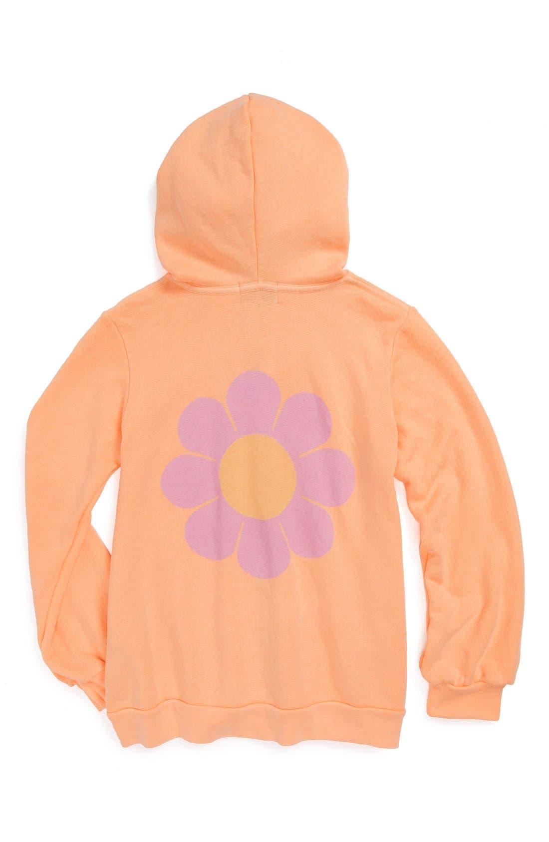 Main Image - Wildfox 'Flower Girl' Hoodie (Big Girls)