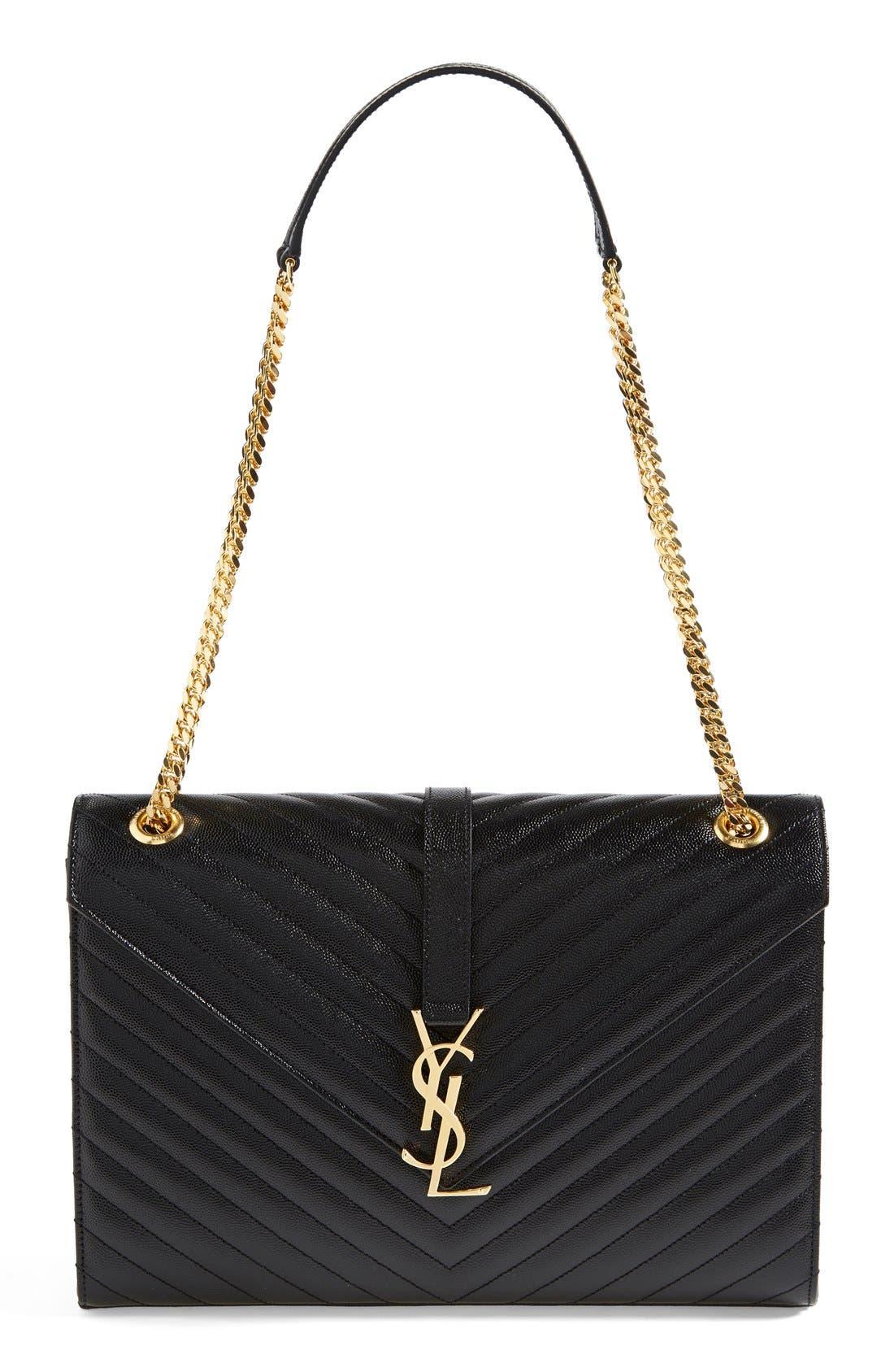 Main Image - Saint Laurent 'Monogram' Leather Shoulder Bag