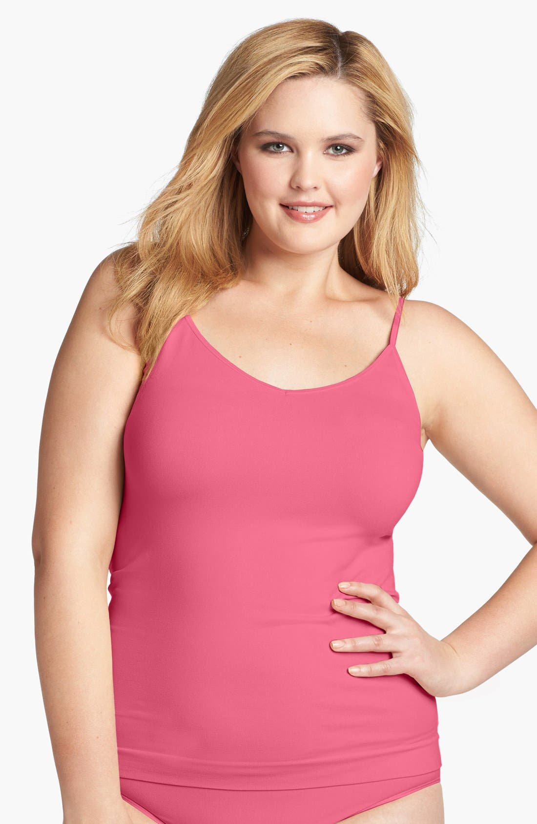 Alternate Image 1 Selected - Shimera Two-Way Seamless Camisole (Plus Size) (2 for $48)