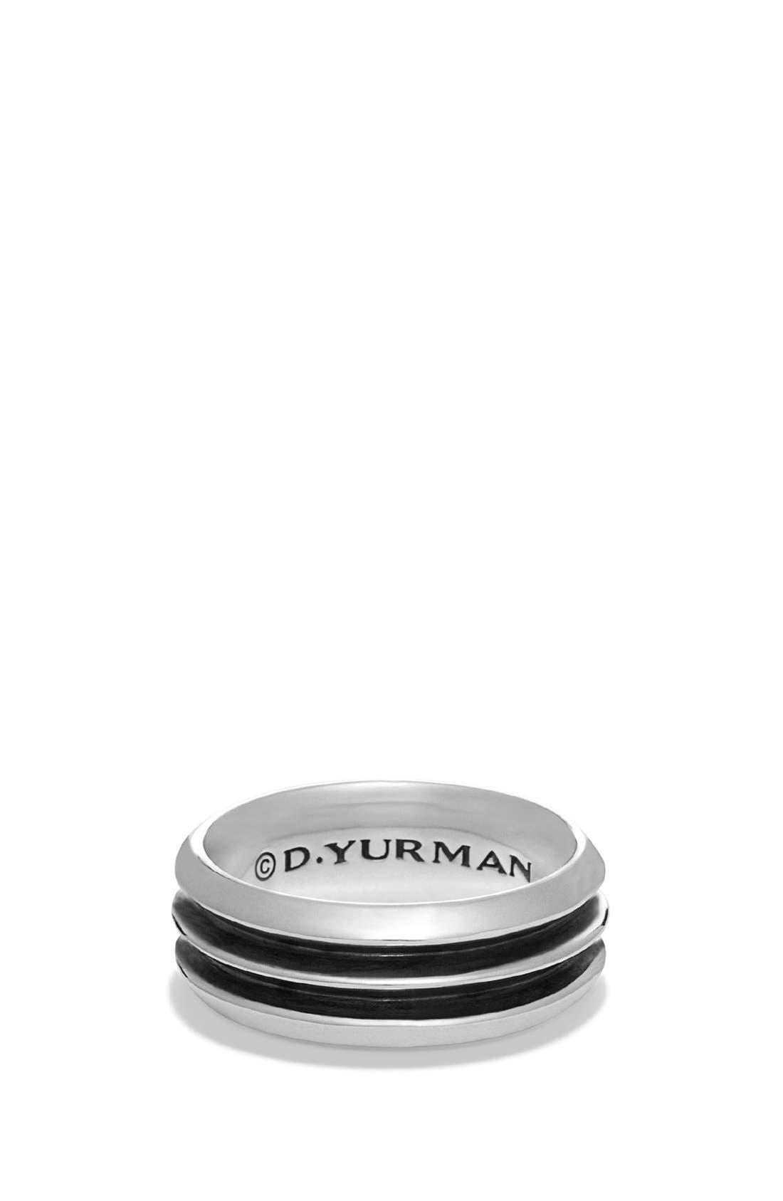 'Royal Cord' Knife-Edge Band Ring,                             Main thumbnail 1, color,                             Silver