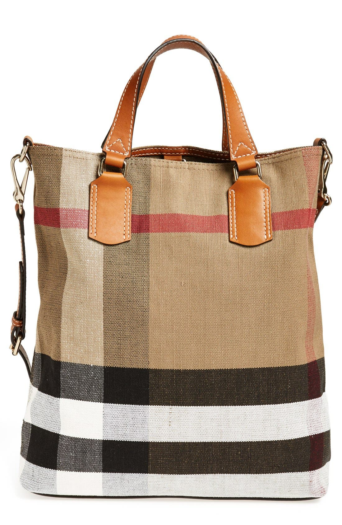 Alternate Image 1 Selected - Burberry Brit 'Medium Tottenham' Check Print Bucket Tote