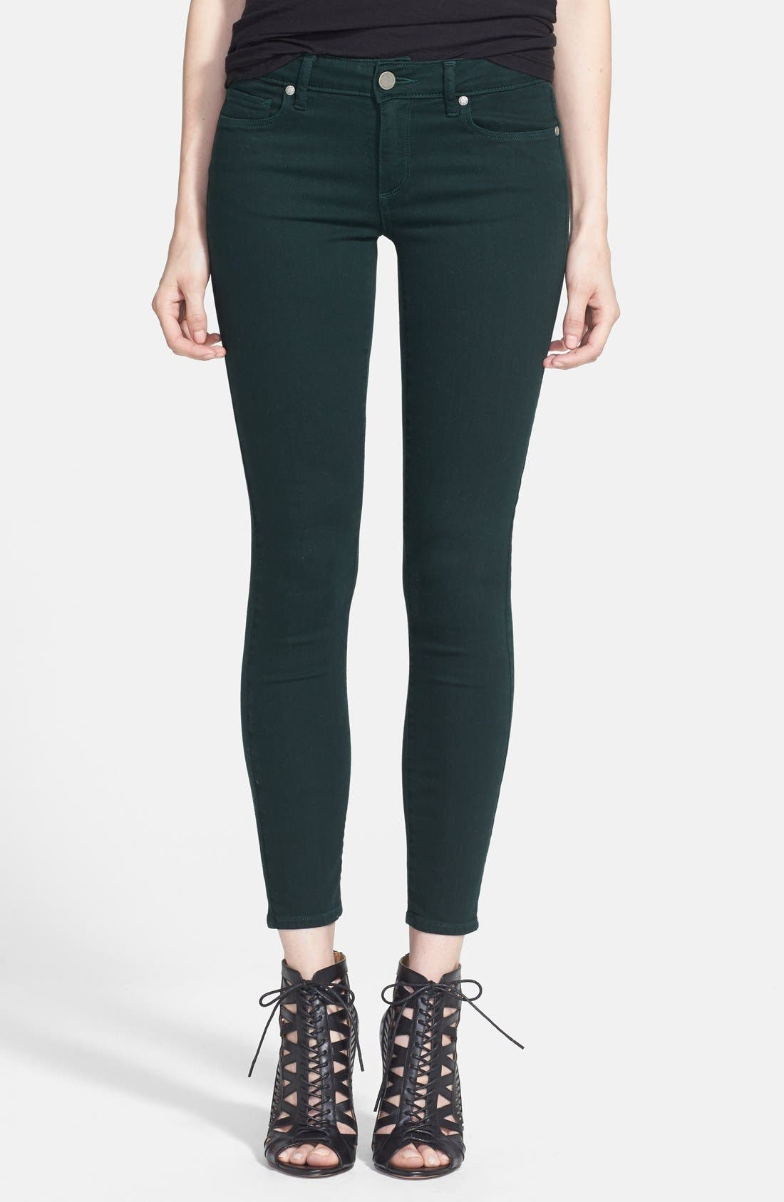 Forest green skinny jeans h&m
