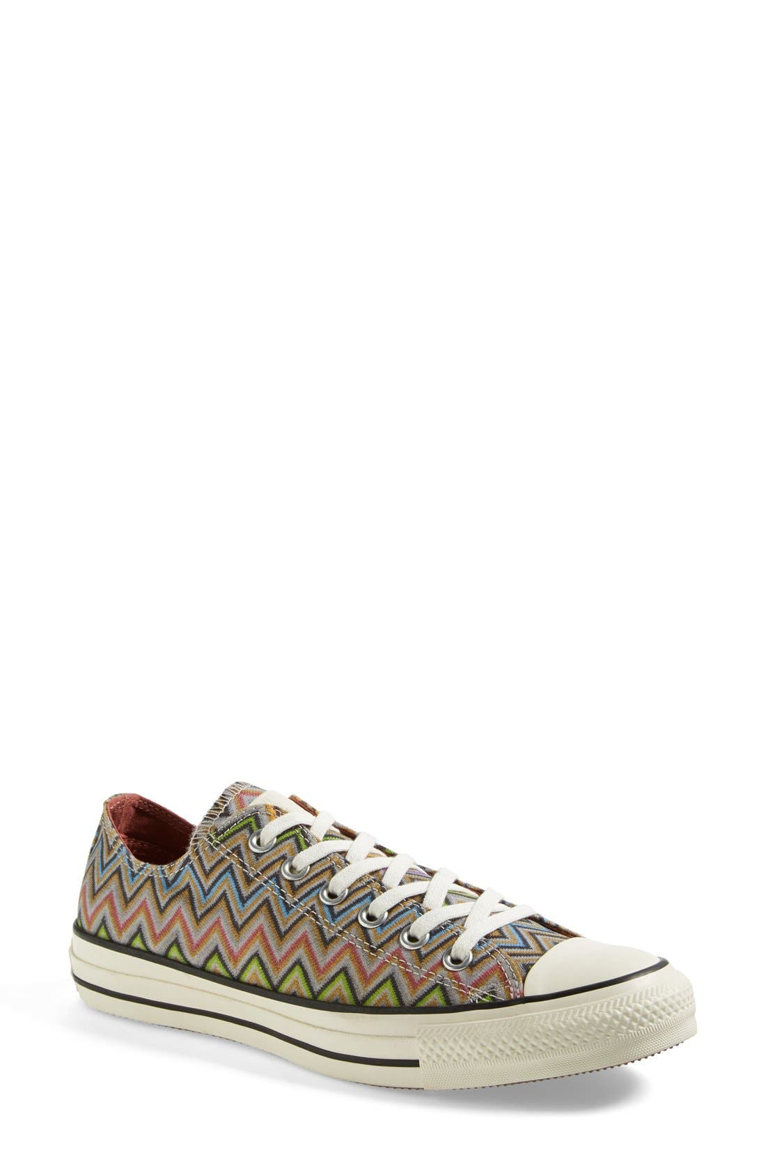 x Missoni Chuck Taylor<sup>®</sup> All Star<sup>®</sup> Low Sneaker,                             Main thumbnail 1, color,                             Lucky Stone/ Egret