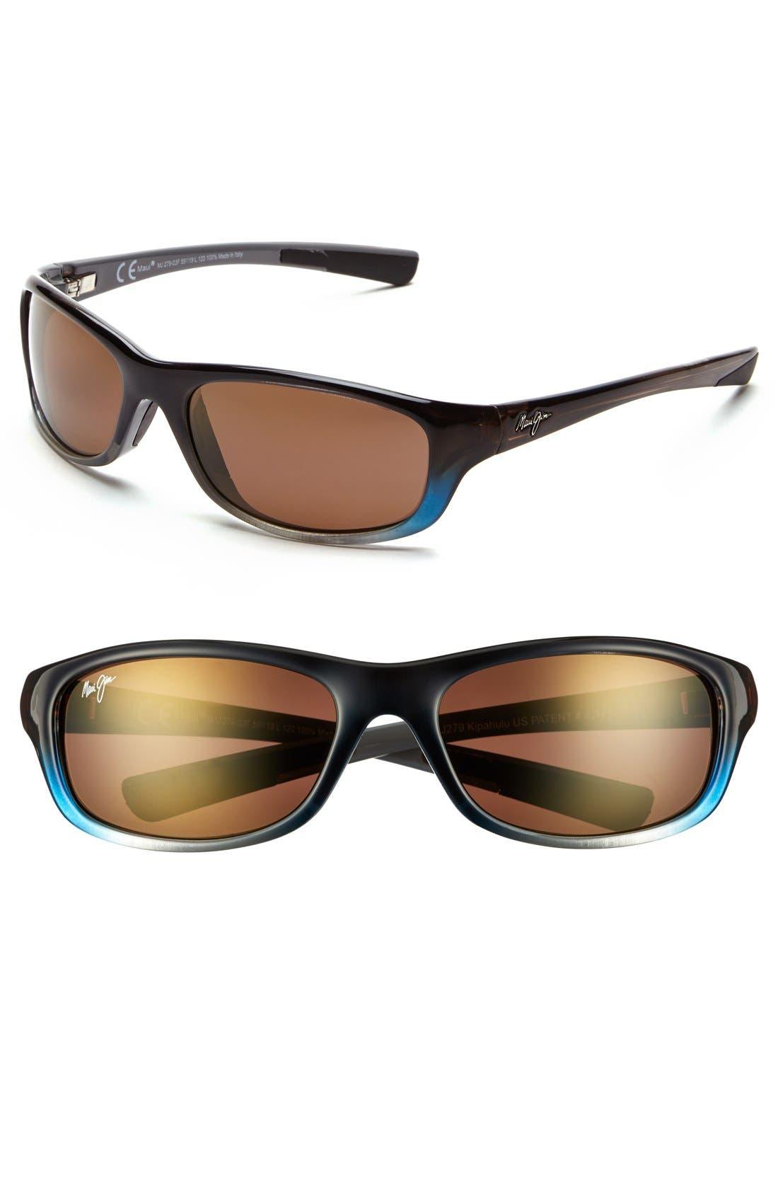 'Kipahulu - PolarizedPlus<sup>®</sup>2' 59mm Sunglasses,                         Main,                         color, Marlin/ Hcl Bronze