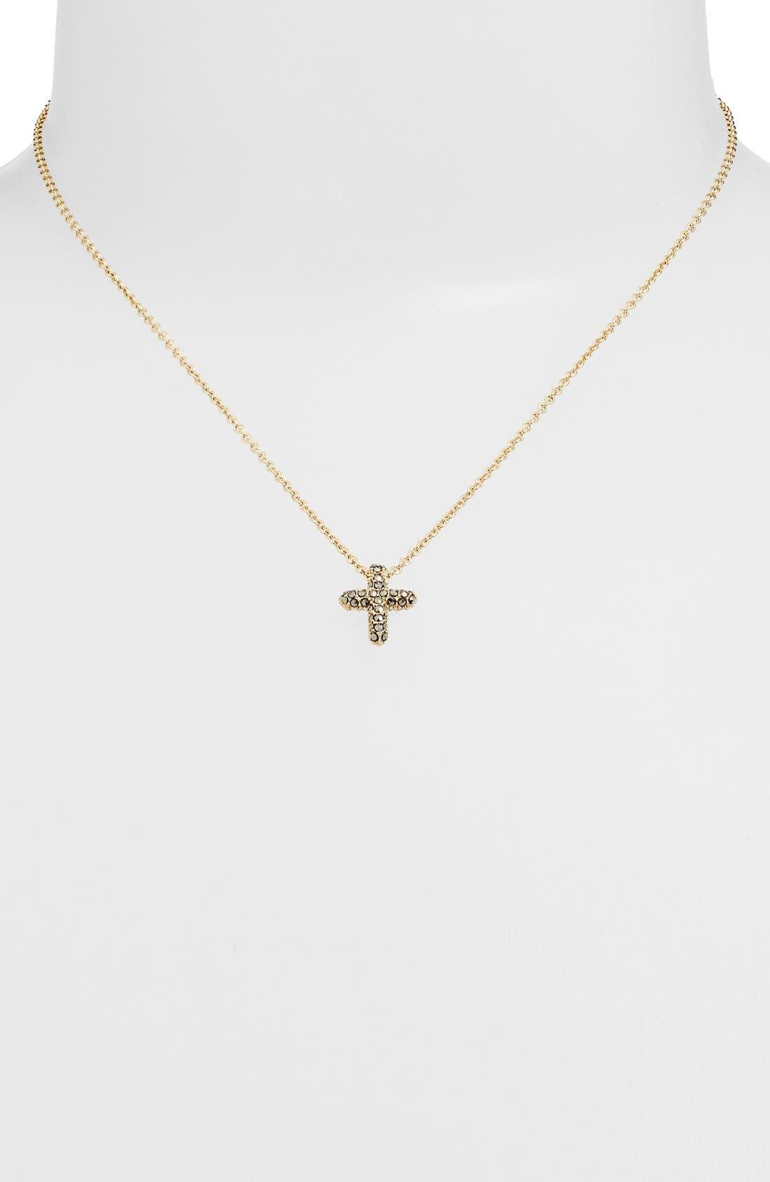Alternate Image 2  - Judith Jack Reversible Pavé Cross Pendant Necklace