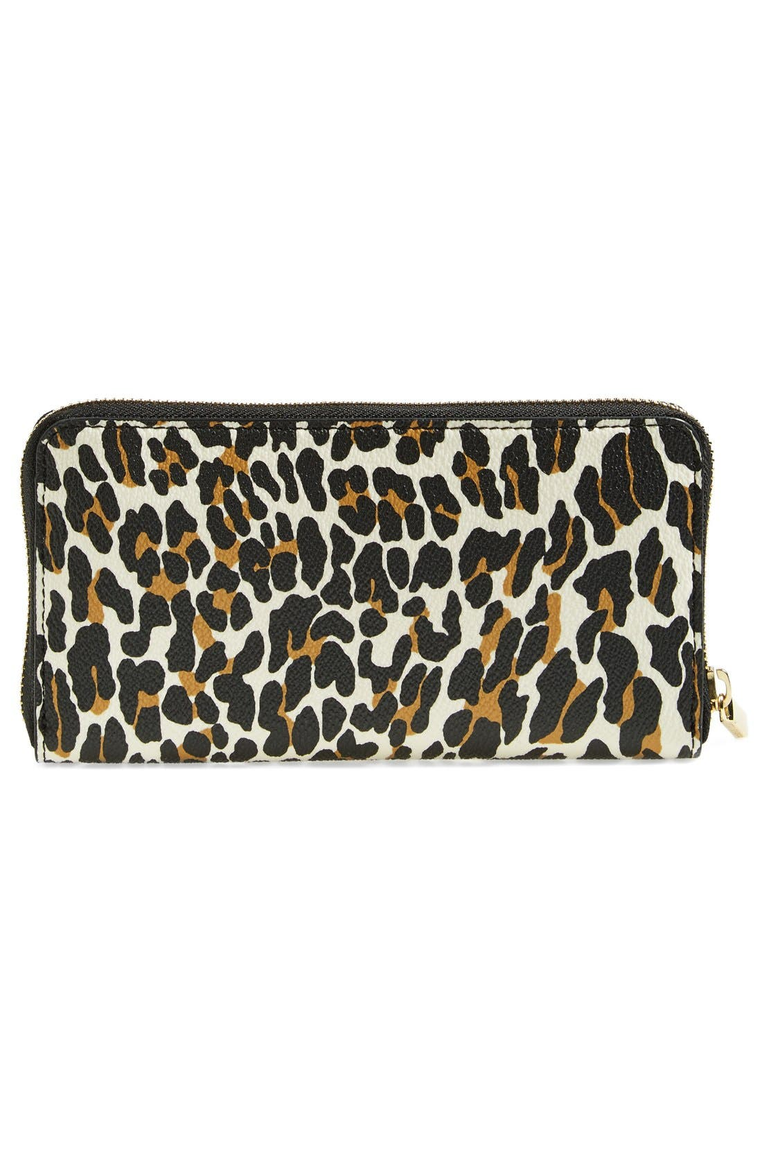 Alternate Image 3  - Tory Burch 'Plaque' Leopard Print Continental Wallet