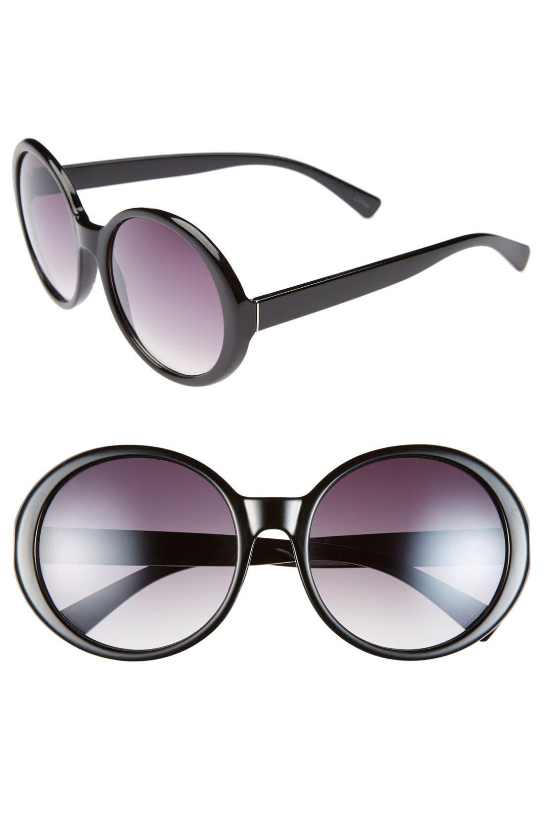 Main Image - Icon Eyewear 55mm Round Sunglasses (Juniors)