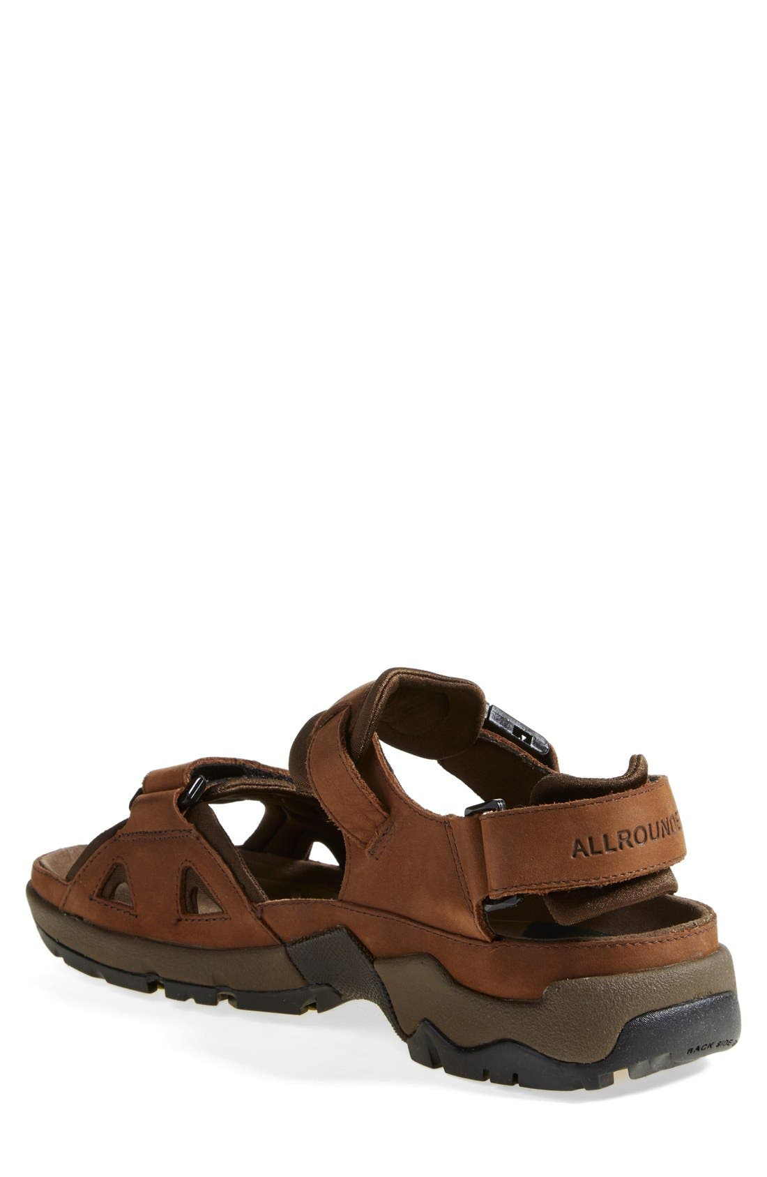 Allrounder by Mephisto 'Alligator' Sandal,                             Alternate thumbnail 2, color,                             Brown
