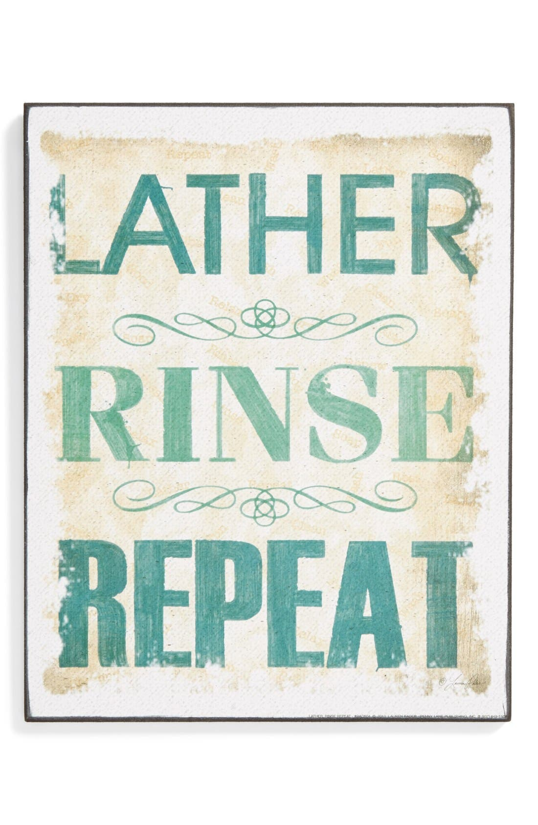 Main Image - VIP International 'Lather, Rinse, Repeat' Wall Art