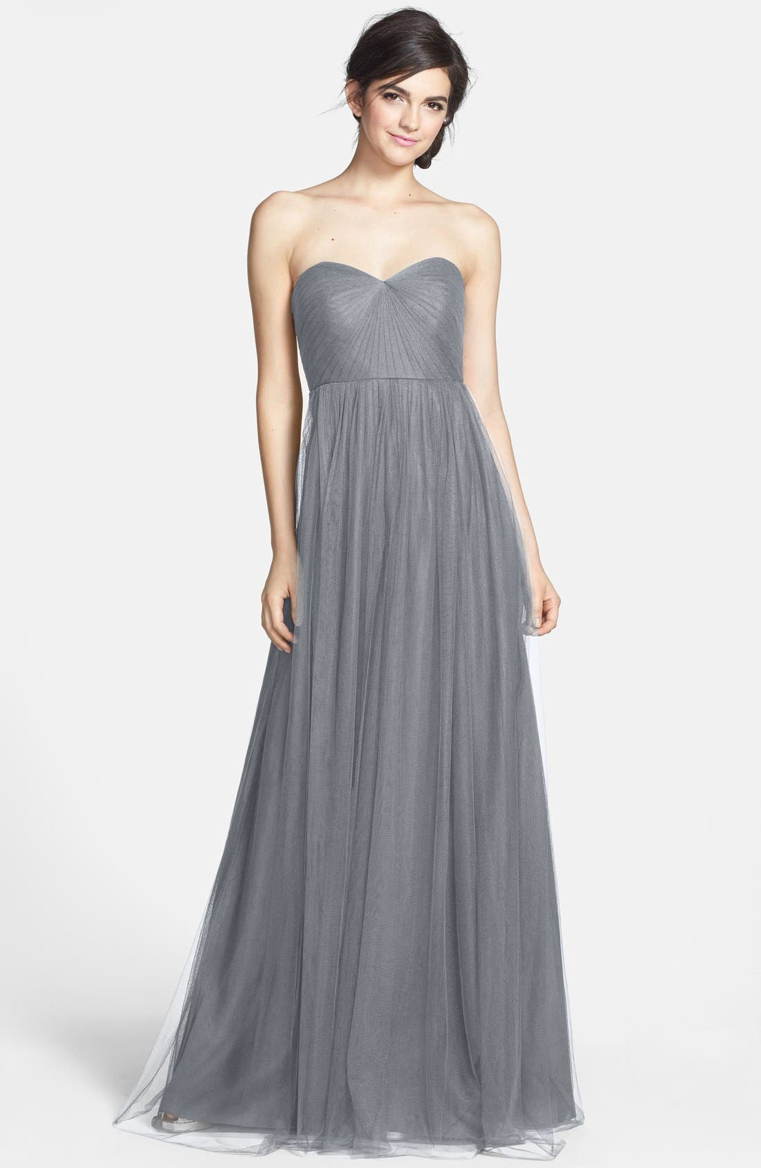 Jenny Yoo Annabelle Convertible Tulle Column Dress