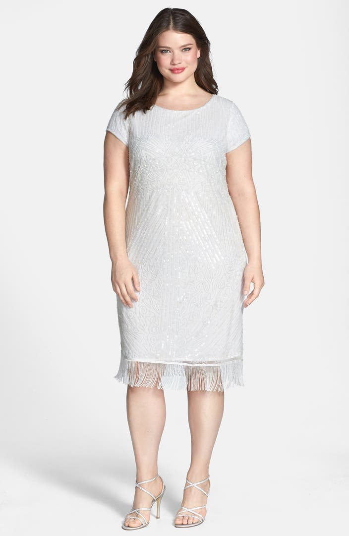 Pisarro nights embellished dress plus size nordstrom for Nordstrom short wedding dresses