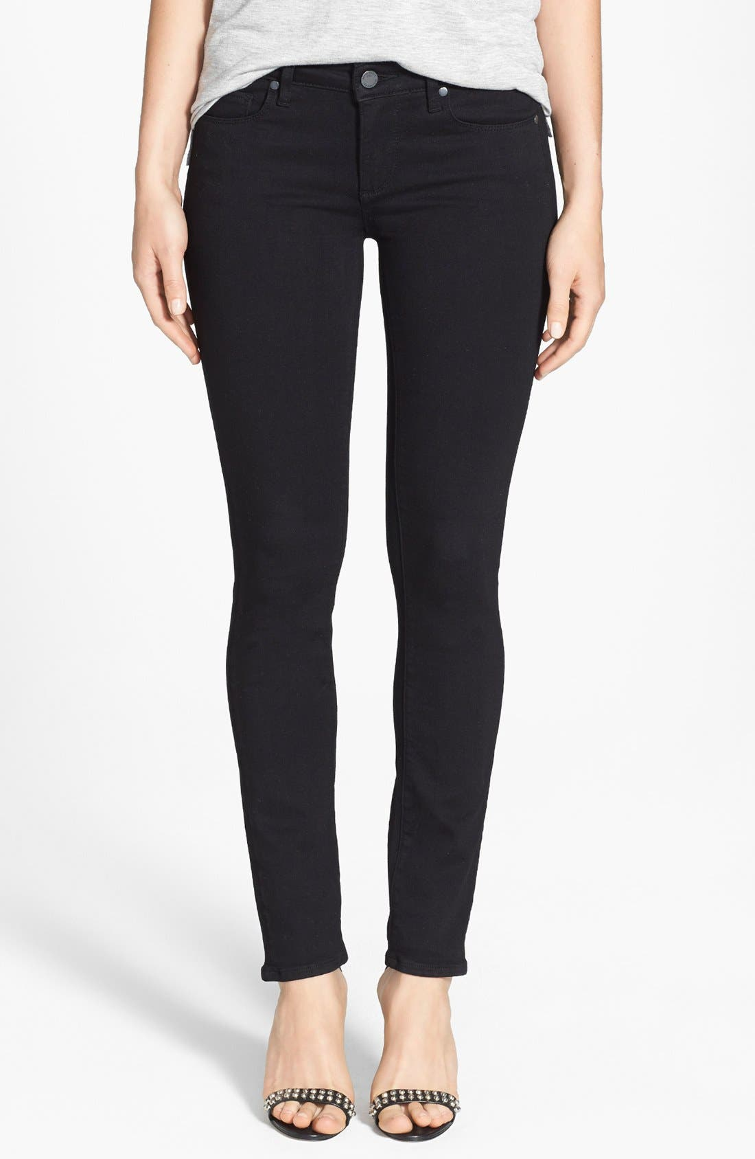 Transcend - Skyline Skinny Jeans,                             Main thumbnail 1, color,                             Black Shadow