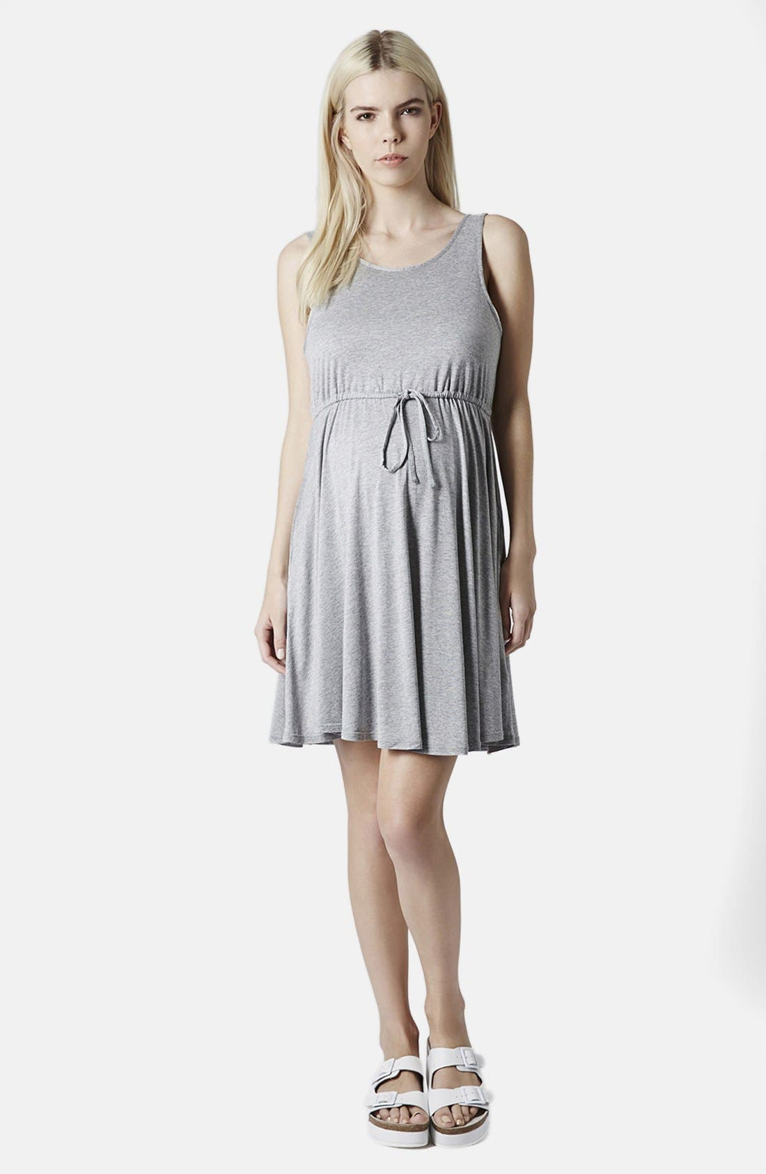 Alternate Image 5  - Topshop Drawstring Waist Jersey Maternity Dress