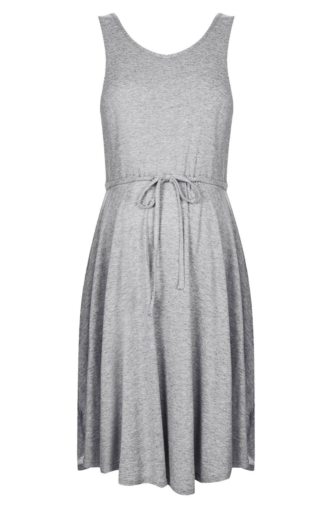 Alternate Image 3  - Topshop Drawstring Waist Jersey Maternity Dress