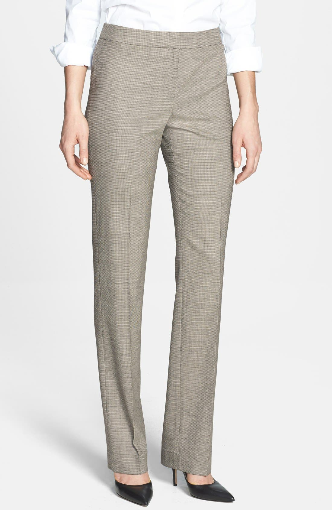 Alternate Image 1 Selected - Lafayette 148 New York 'Barrow - Ritz' Suiting Pants (Regular & Petite)