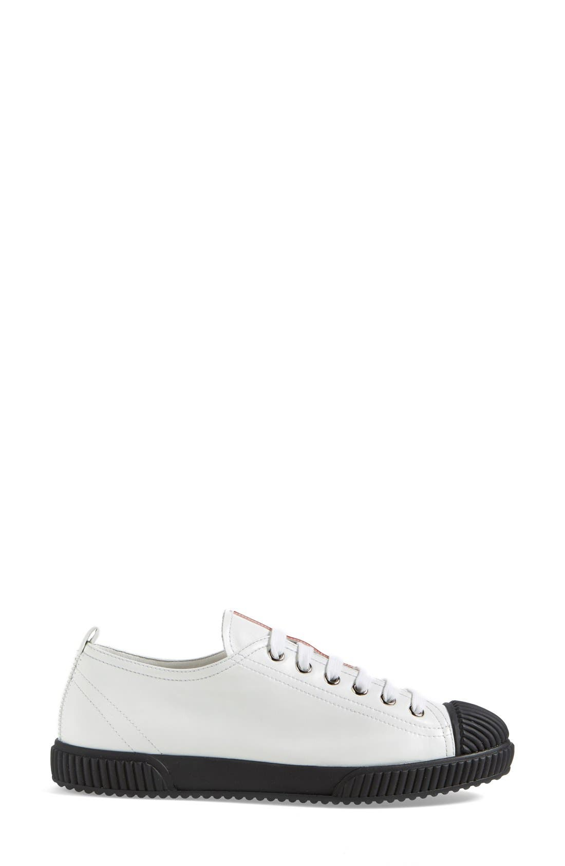 Alternate Image 4  - Prada Cap Toe Sneaker (Women)