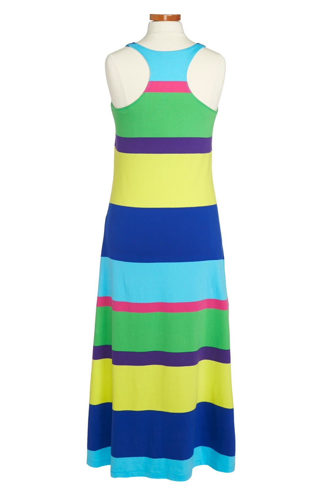 Alternate Image 2  - Ralph Lauren Rugby Stripe Sleeveless Cotton Maxi Dress (Big Girls)