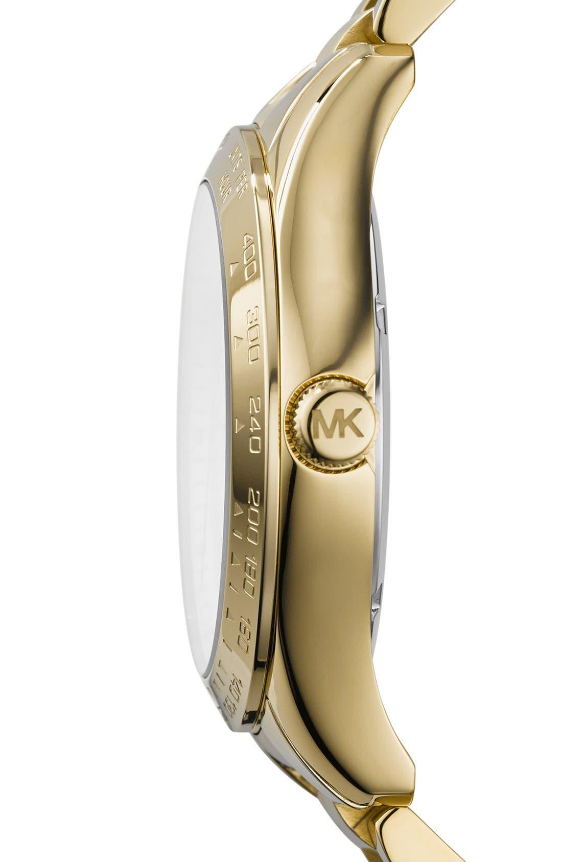 Alternate Image 3  - Michael Kors 'Layton' Pavé Dial Bracelet Watch, 44mm