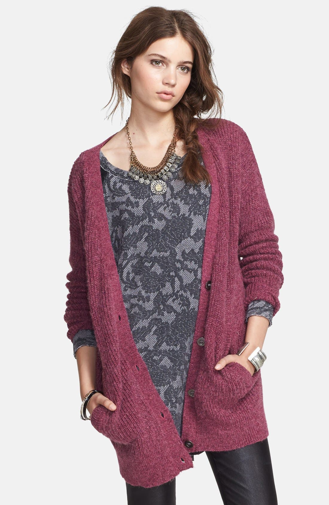 Alternate Image 1 Selected - Free People 'Cloudy Day' Long Cardigan