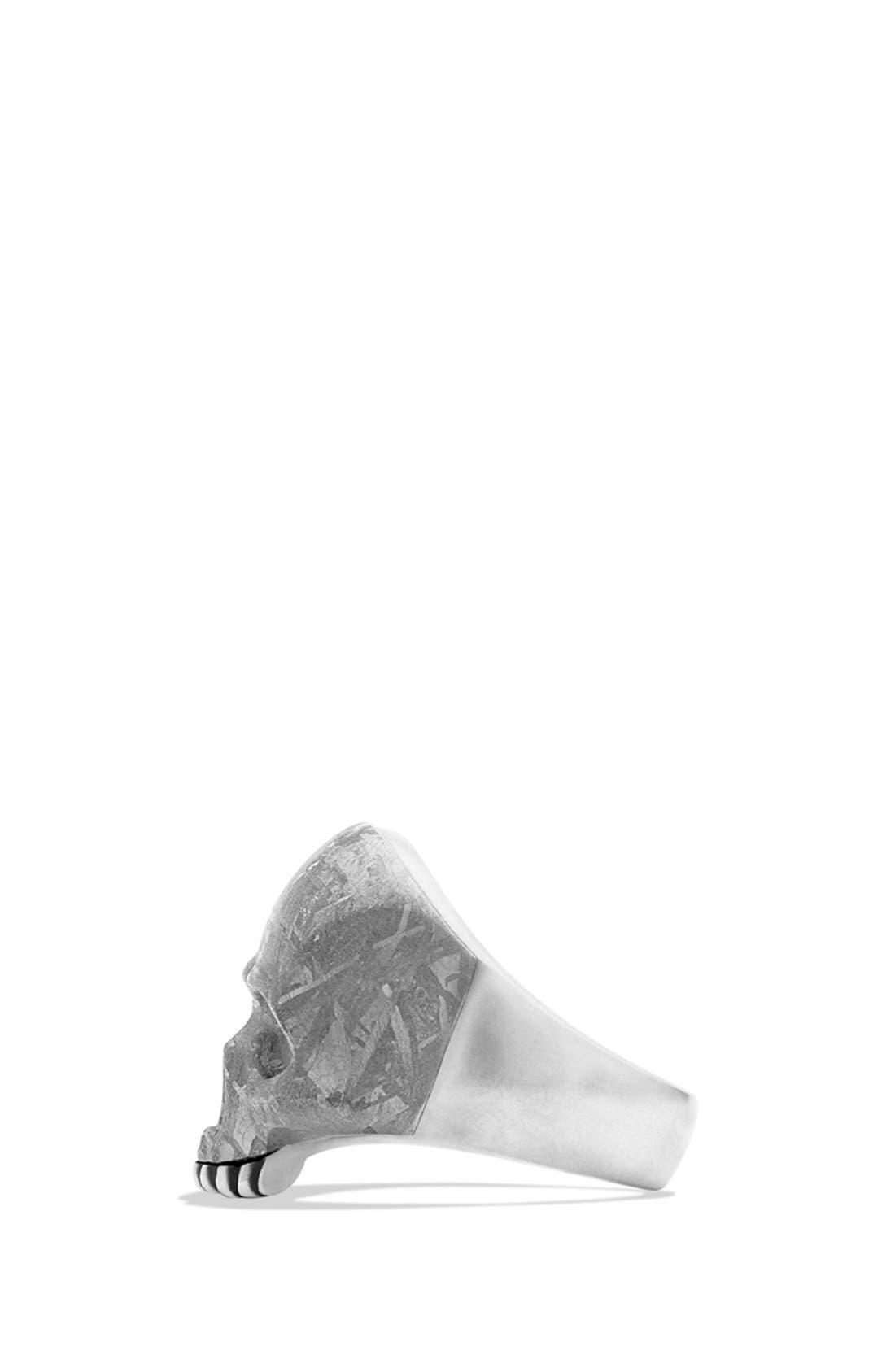 Alternate Image 3  - David Yurman 'Skull' Ring with Carved Meteorite