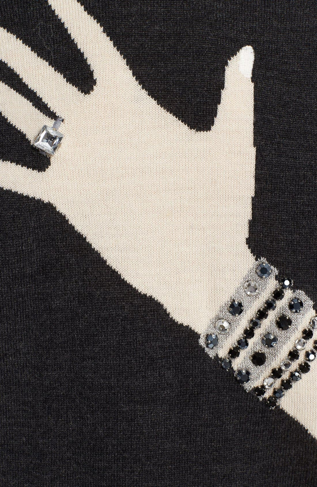 Alternate Image 3  - Alice + Olivia Embellished Intarsia Knit Sweater