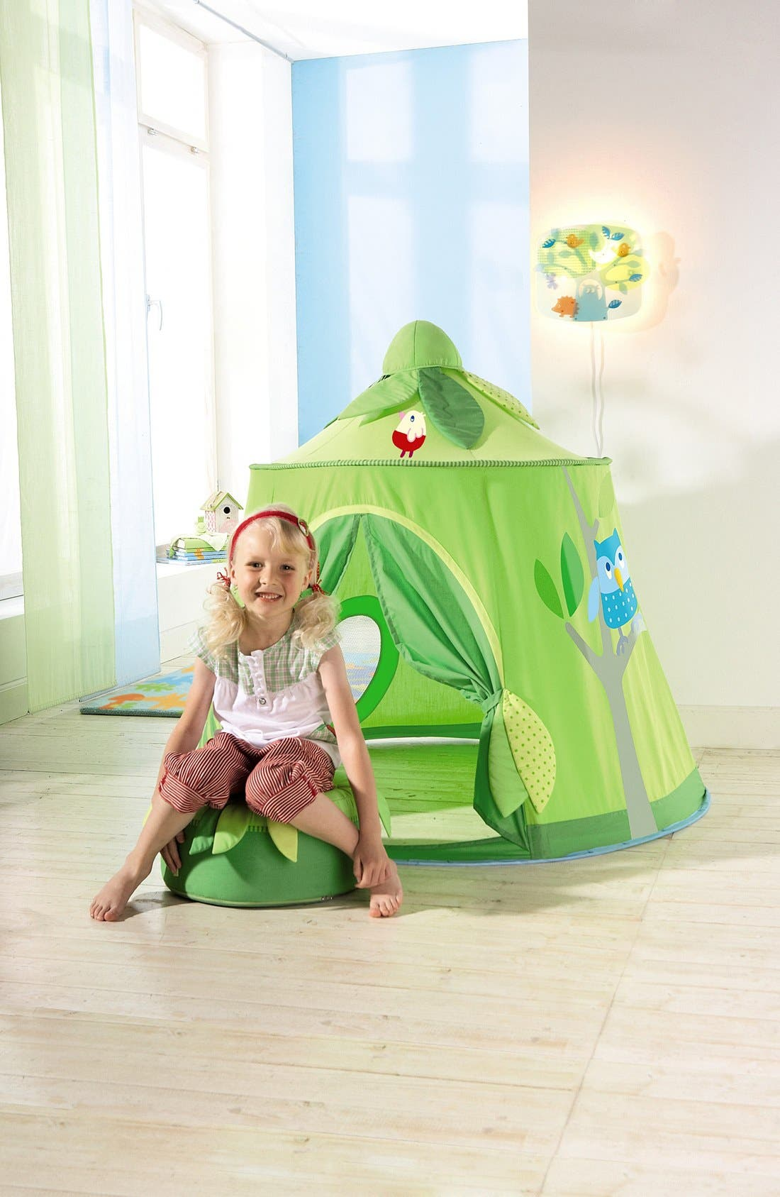 'Magic Forest' Play Tent,                             Alternate thumbnail 3, color,                             Green