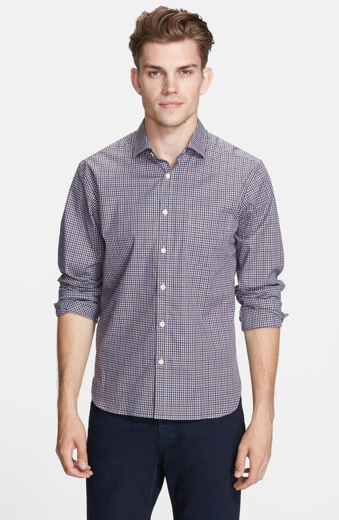 Alternate Image 1 Selected - Billy Reid 'John T' Standard Fit Check Woven Shirt