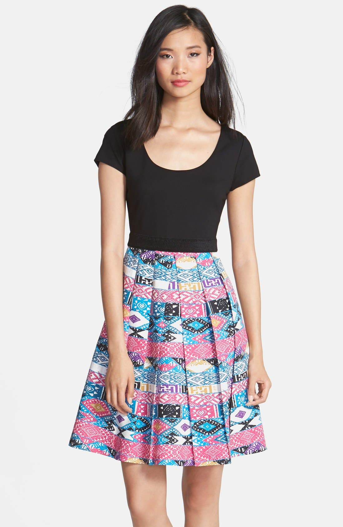 Main Image - Plenty by Tracy Reese 'Zoe' Print Skirt Fit & Flare Dress