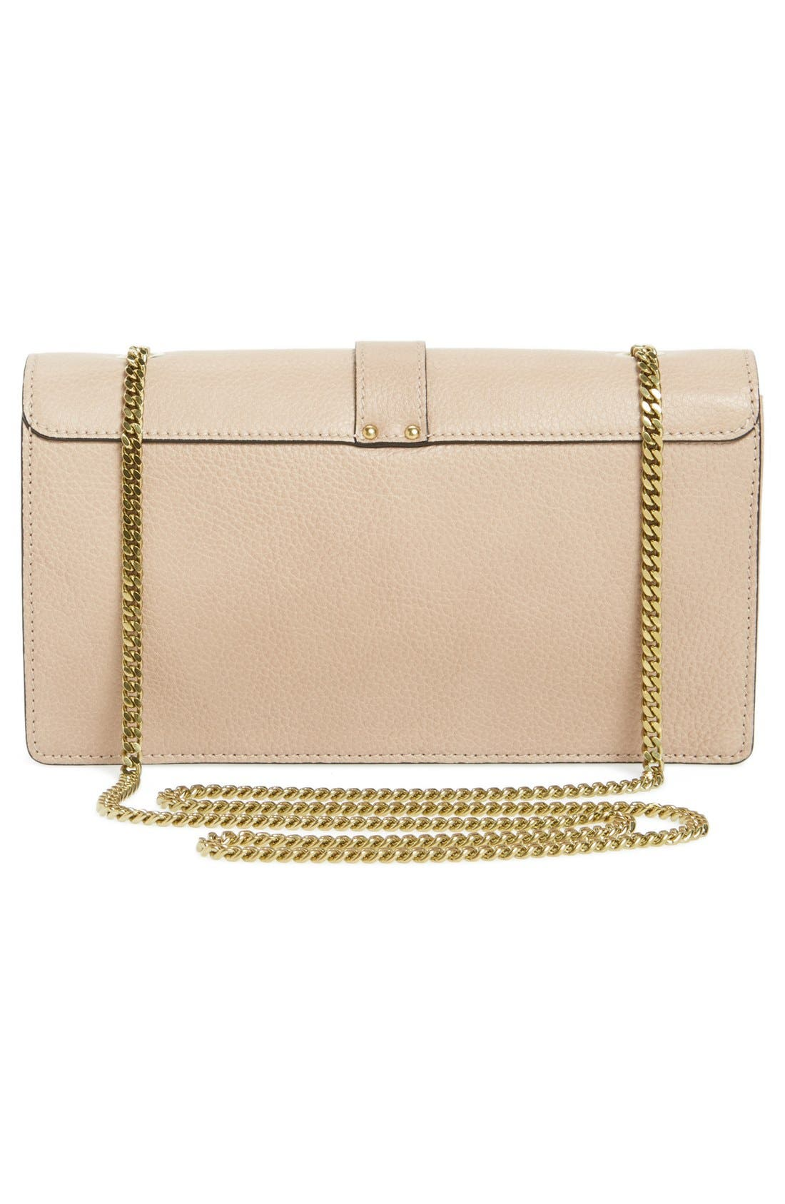 Alternate Image 4  - Chloé 'Aurore' Calfskin Leather Wallet on a Chain