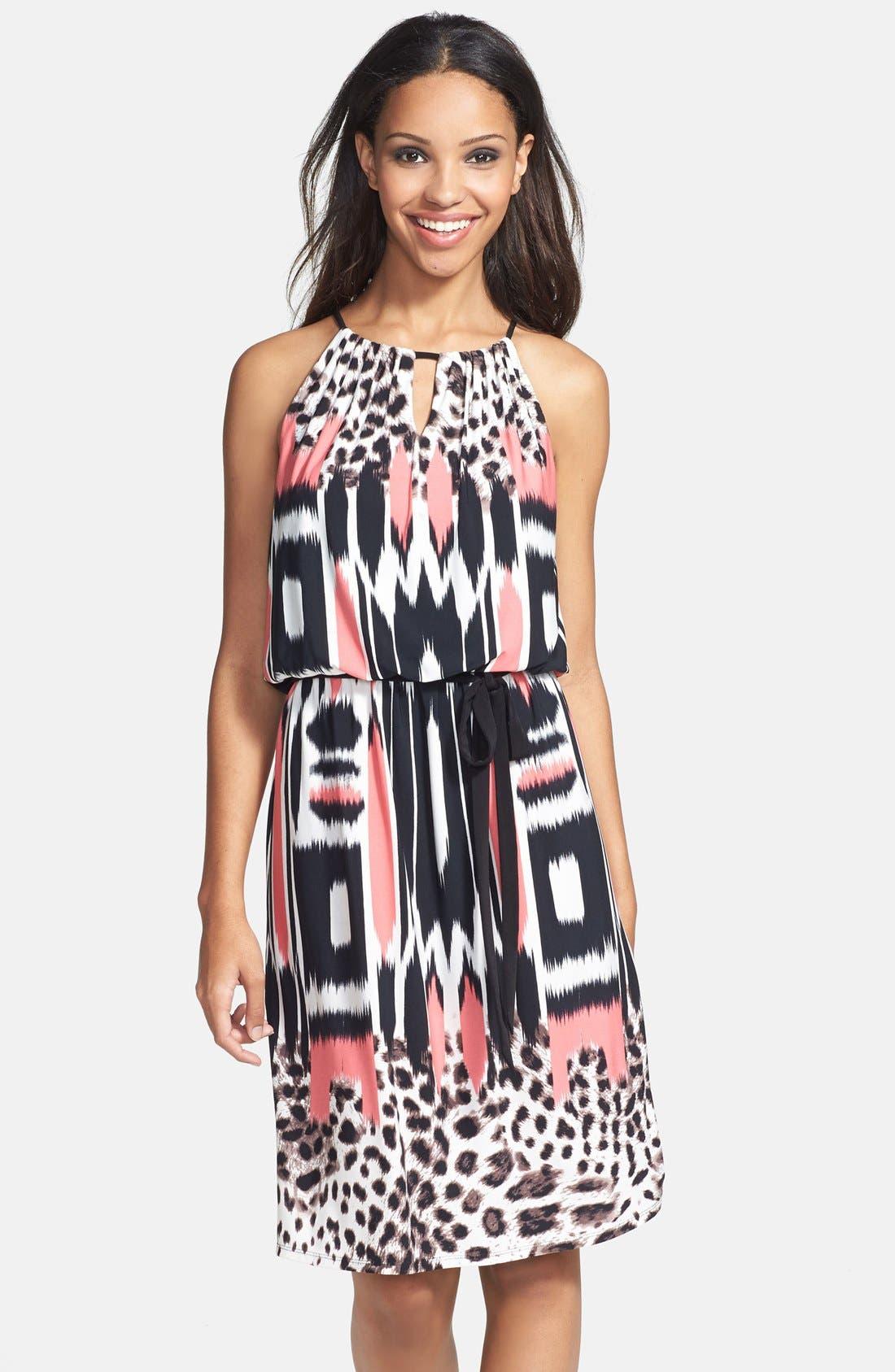 Alternate Image 1 Selected - Maggy London Print Blouson Jersey Dress