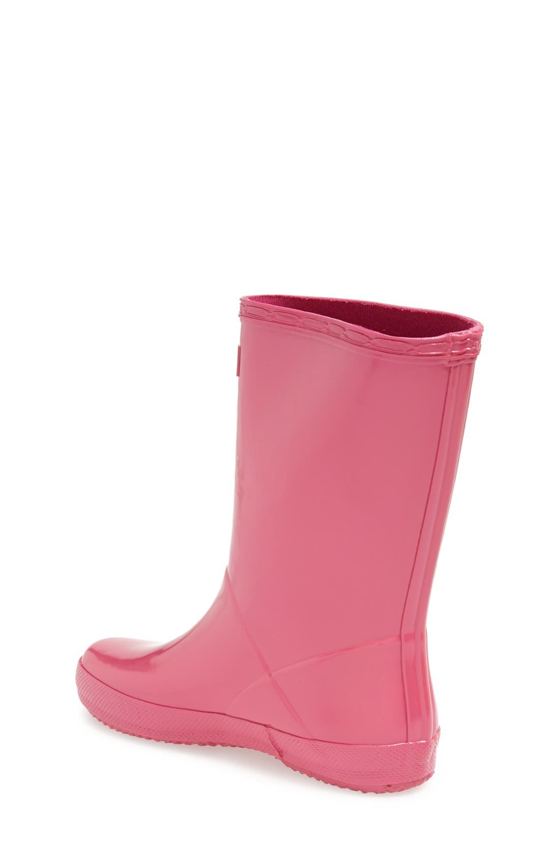 Alternate Image 2  - Hunter 'First Gloss' Rain Boot (Walker, Toddler & Little Kid)