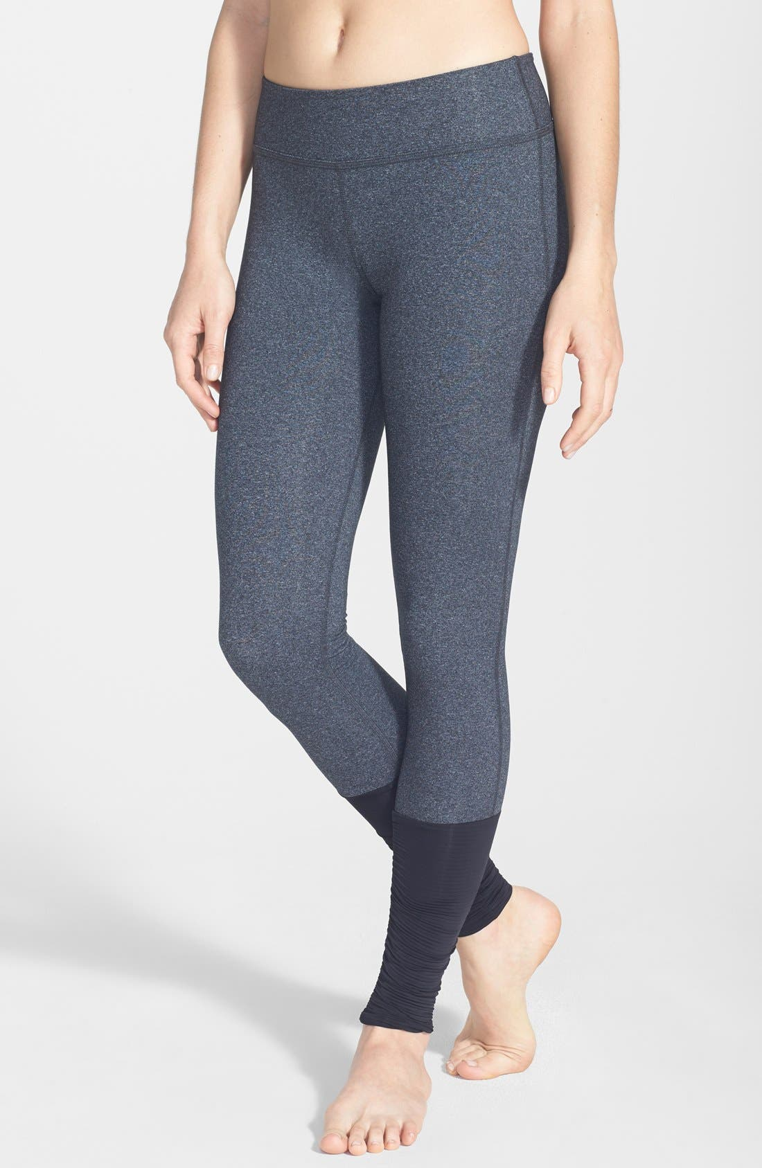 Alternate Image 1 Selected - Beyond Yoga Shirred Hem Leggings