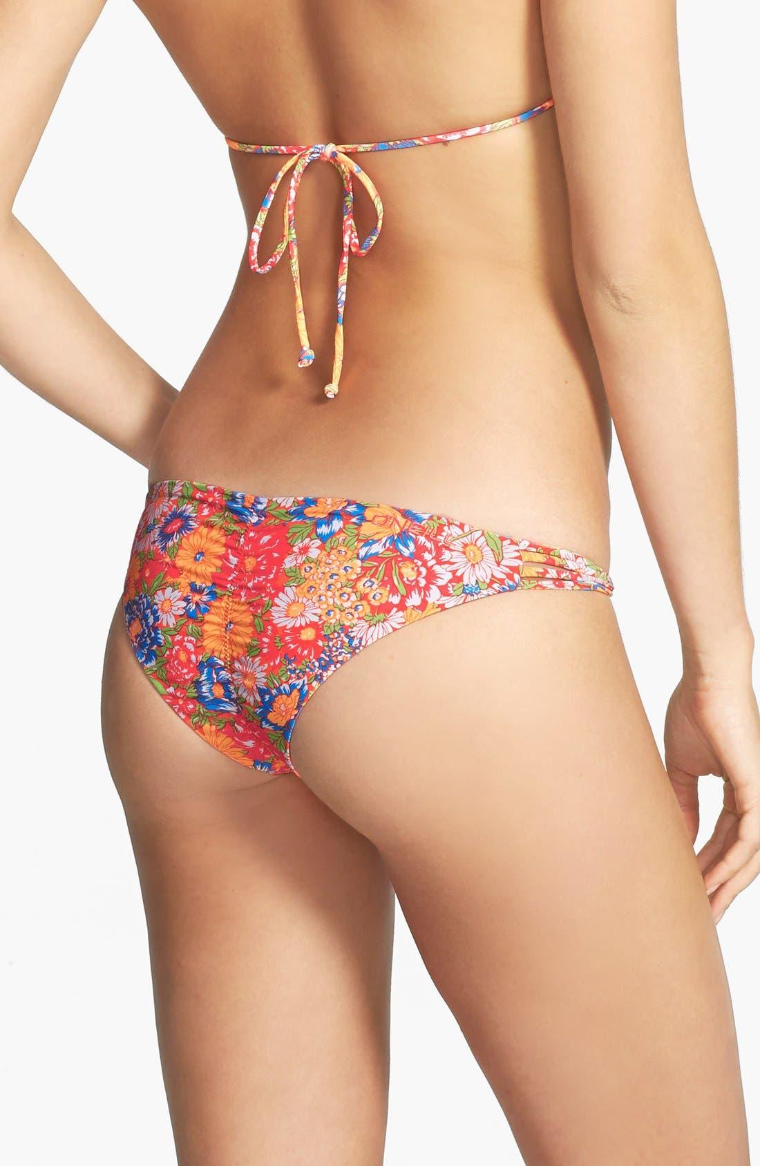 Alternate Image 3  - O'Neill 'Citrus Floral' Reversible Strappy Twist Bikini Bottoms