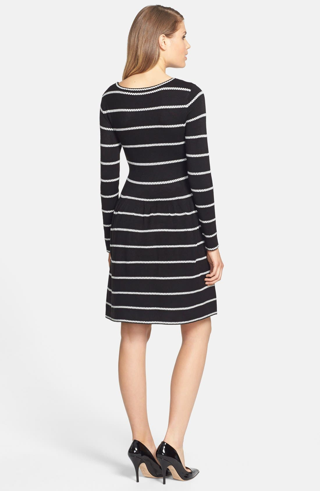 Alternate Image 2  - Eliza J Knit Fit & Flare Dress