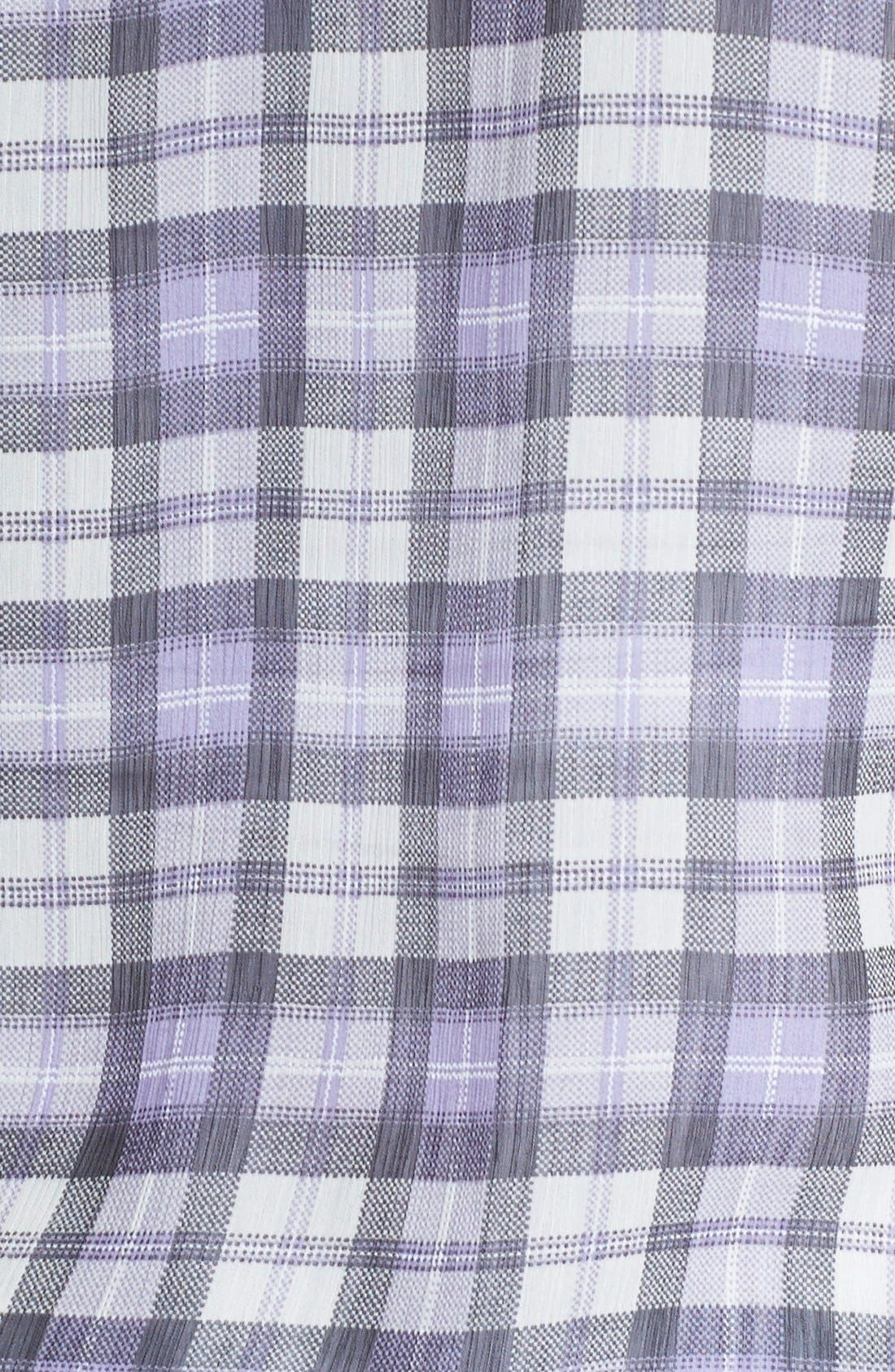Plaid Shirt,                             Alternate thumbnail 2, color,                             Ivory/ Purple