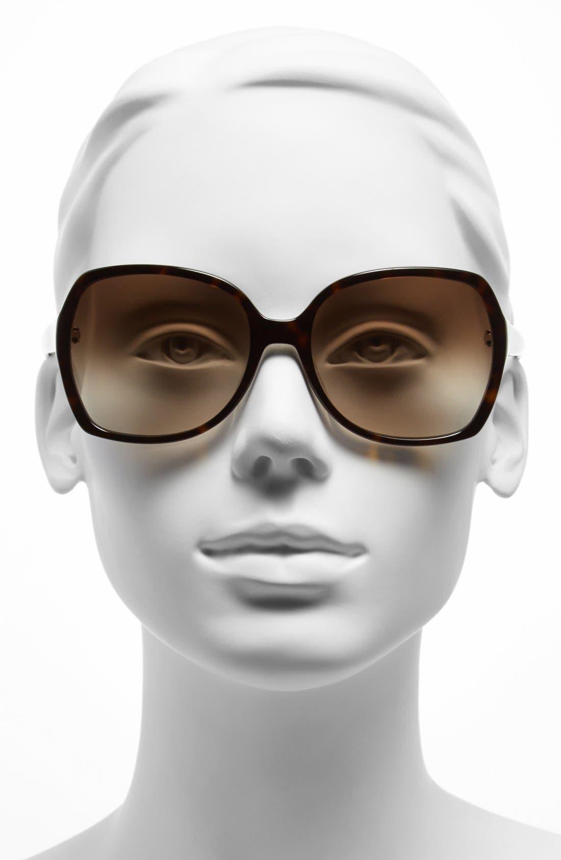 Alternate Image 2  - kate spade new york 'halsey' 57mm sunglasses
