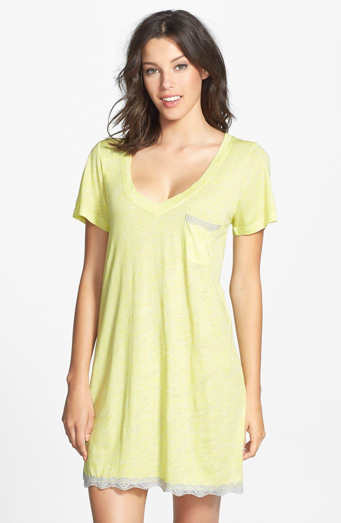 Alternate Image 1 Selected - Honeydew Intimates Lace Trim Sleep Shirt