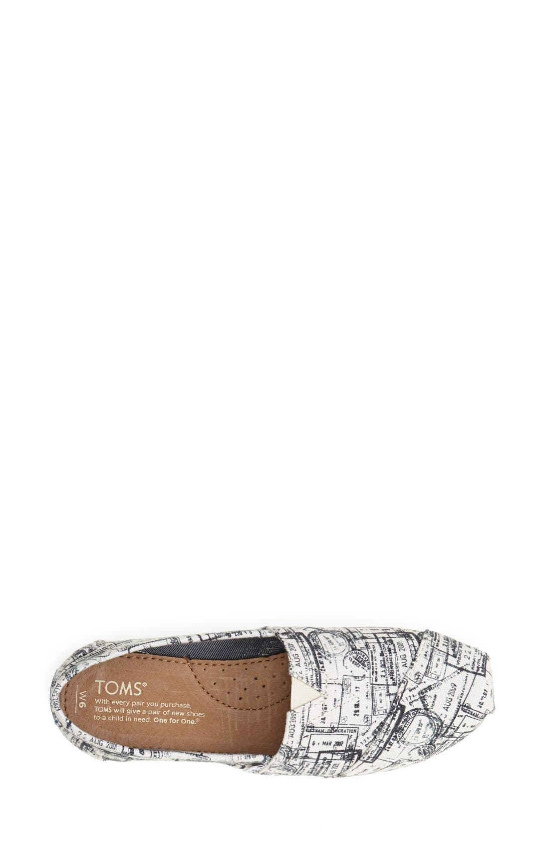 Alternate Image 3  - TOMS 'Classic - Passport Stamps' Slip-On (Nordstrom Exclusive)(Women)