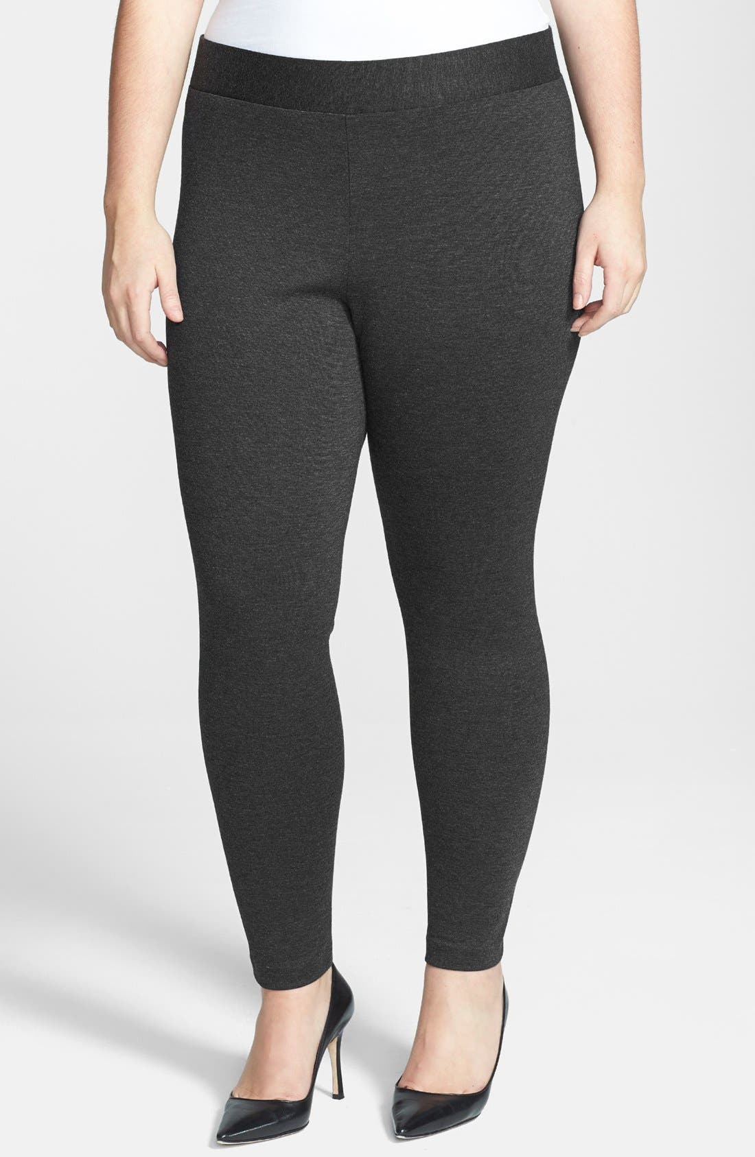 TWO BY VINCE CAMUTO High Rise Leggings in Dark Heather Grey