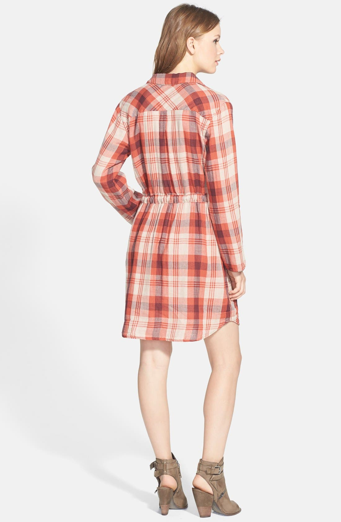 Alternate Image 2  - Velvet by Graham & Spencer Double Face Plaid Shirtdress