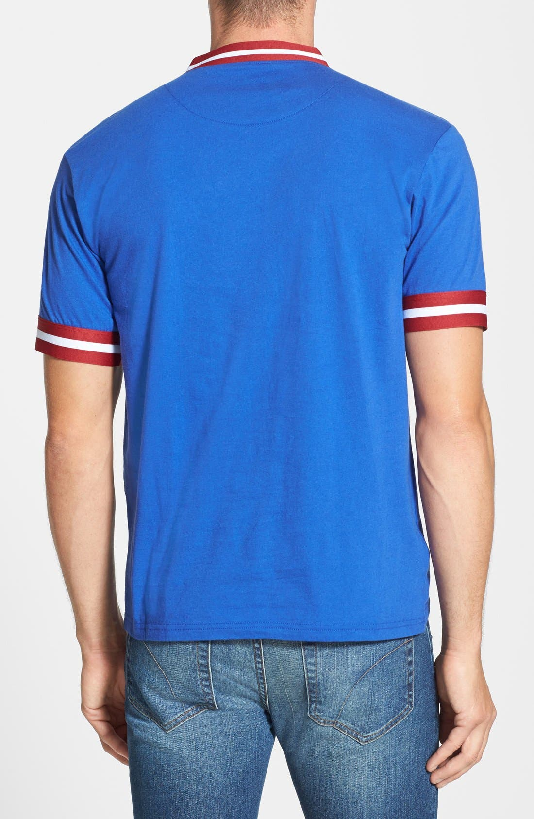 Alternate Image 2  - Mitchell & Ness 'Chicago Cubs - Game Ball' Tailored Fit Short Sleeve Henley