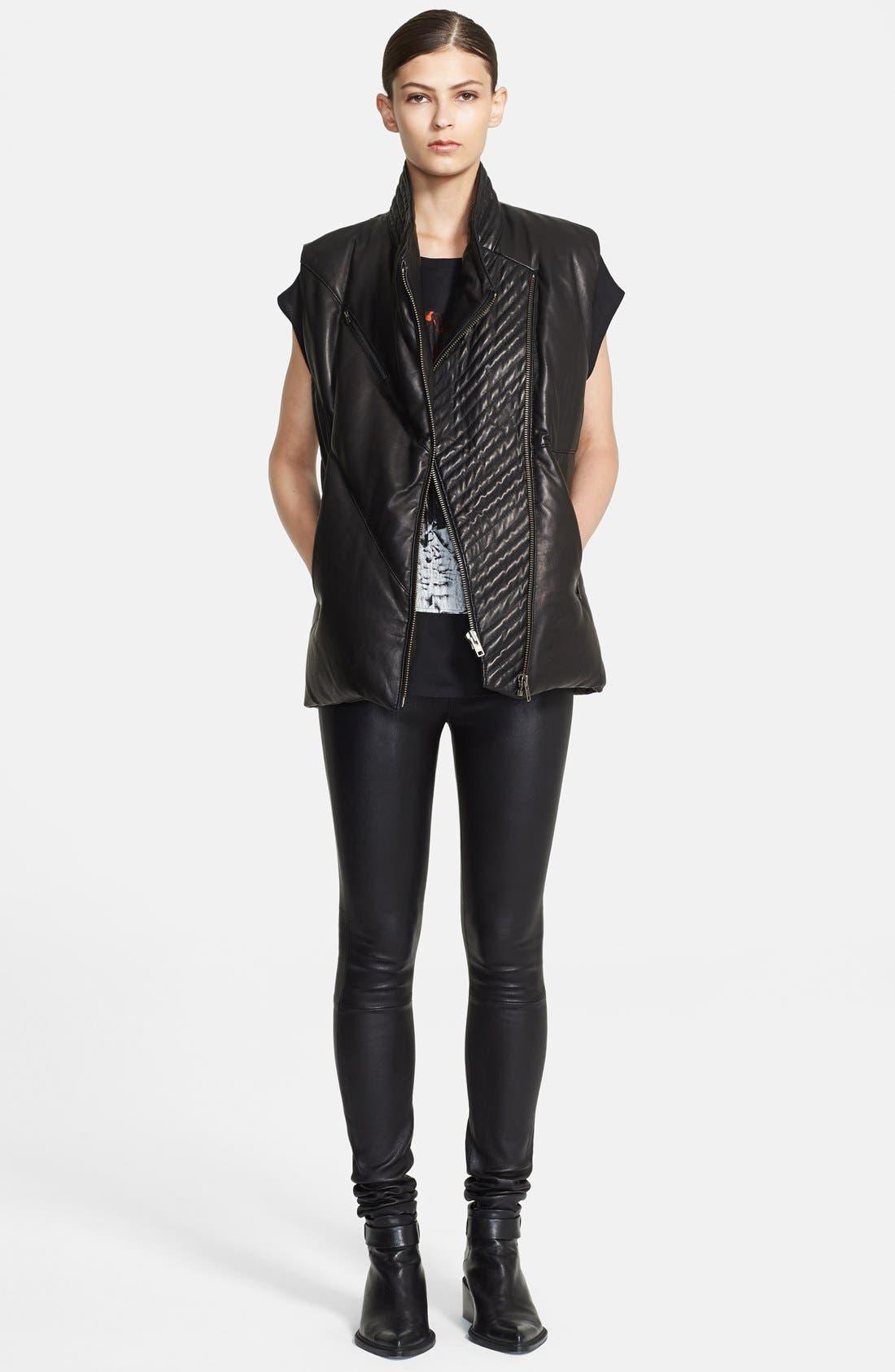 Alternate Image 3  - Helmut Lang 'Petal' Leather Puffer Vest