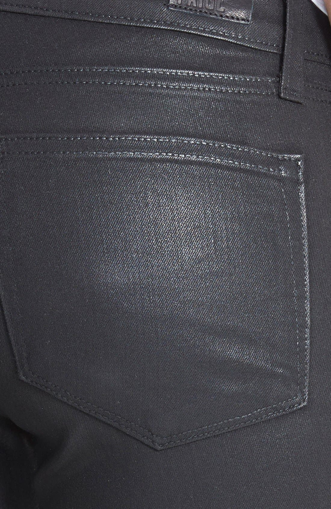 'Edgemont' Coated Ultra Skinny Jeans,                             Alternate thumbnail 3, color,                             Black Silk