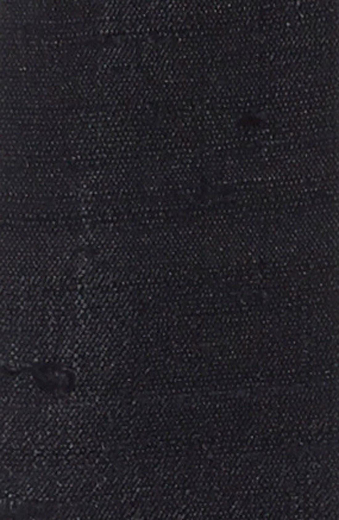 Alternate Image 2  - L. Erickson Silk Dupioni Skinny Obi Sash Belt
