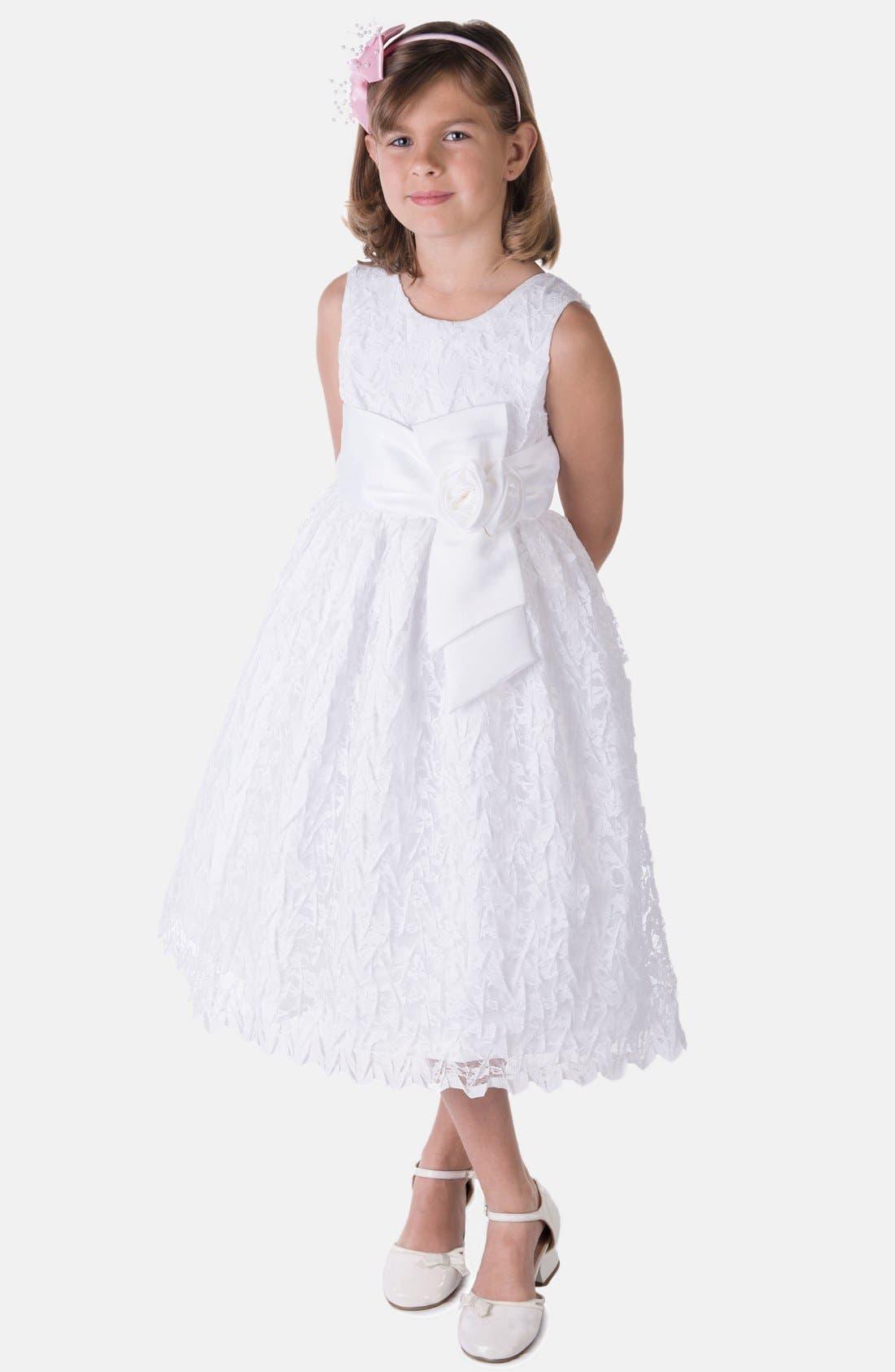 Alternate Image 1 Selected - C.I. Castro & Co. Sleeveless Lace Dress (Big Girls)
