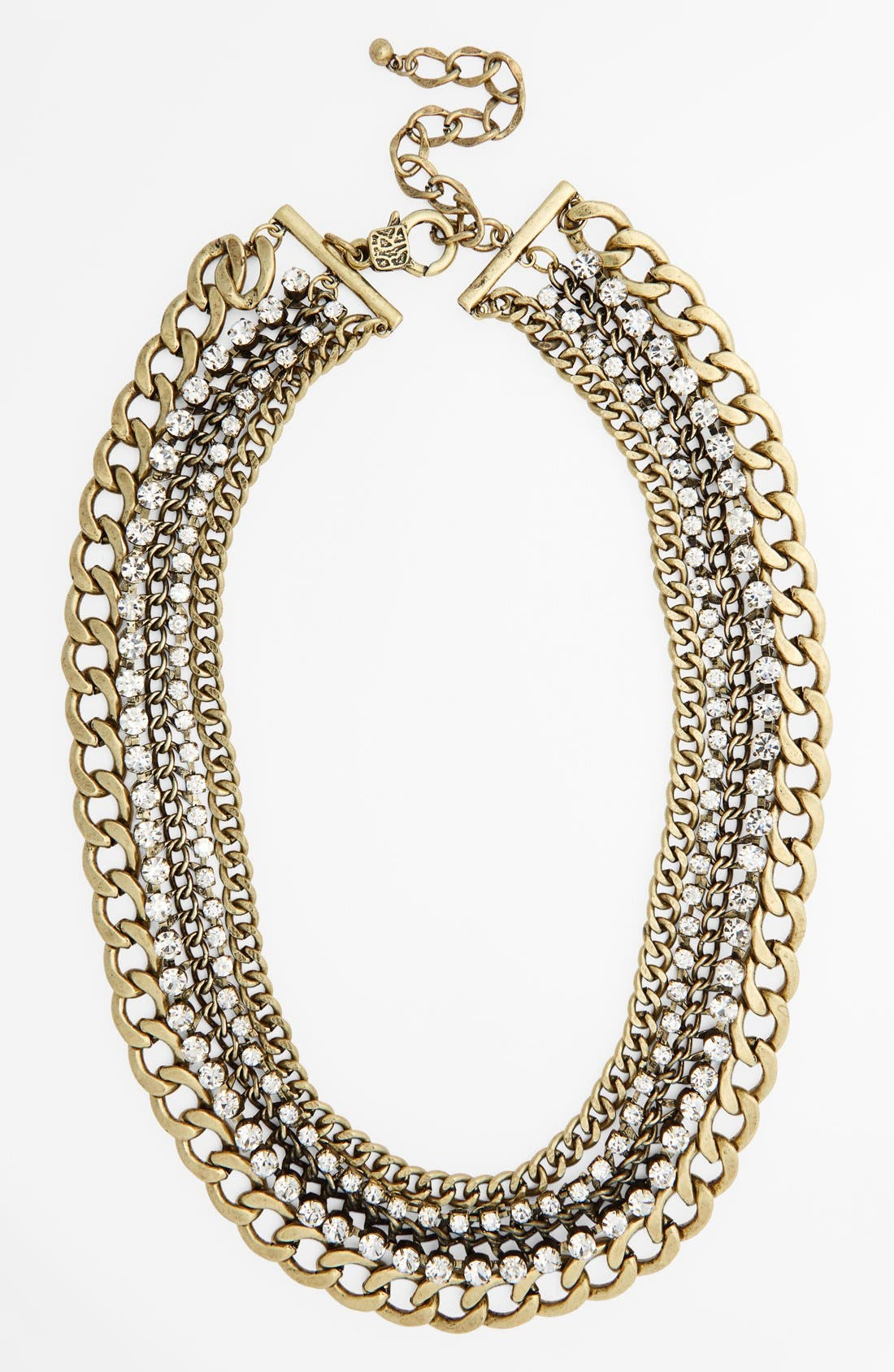 Main Image - Natasha Couture Crystal Multi Chain Necklace