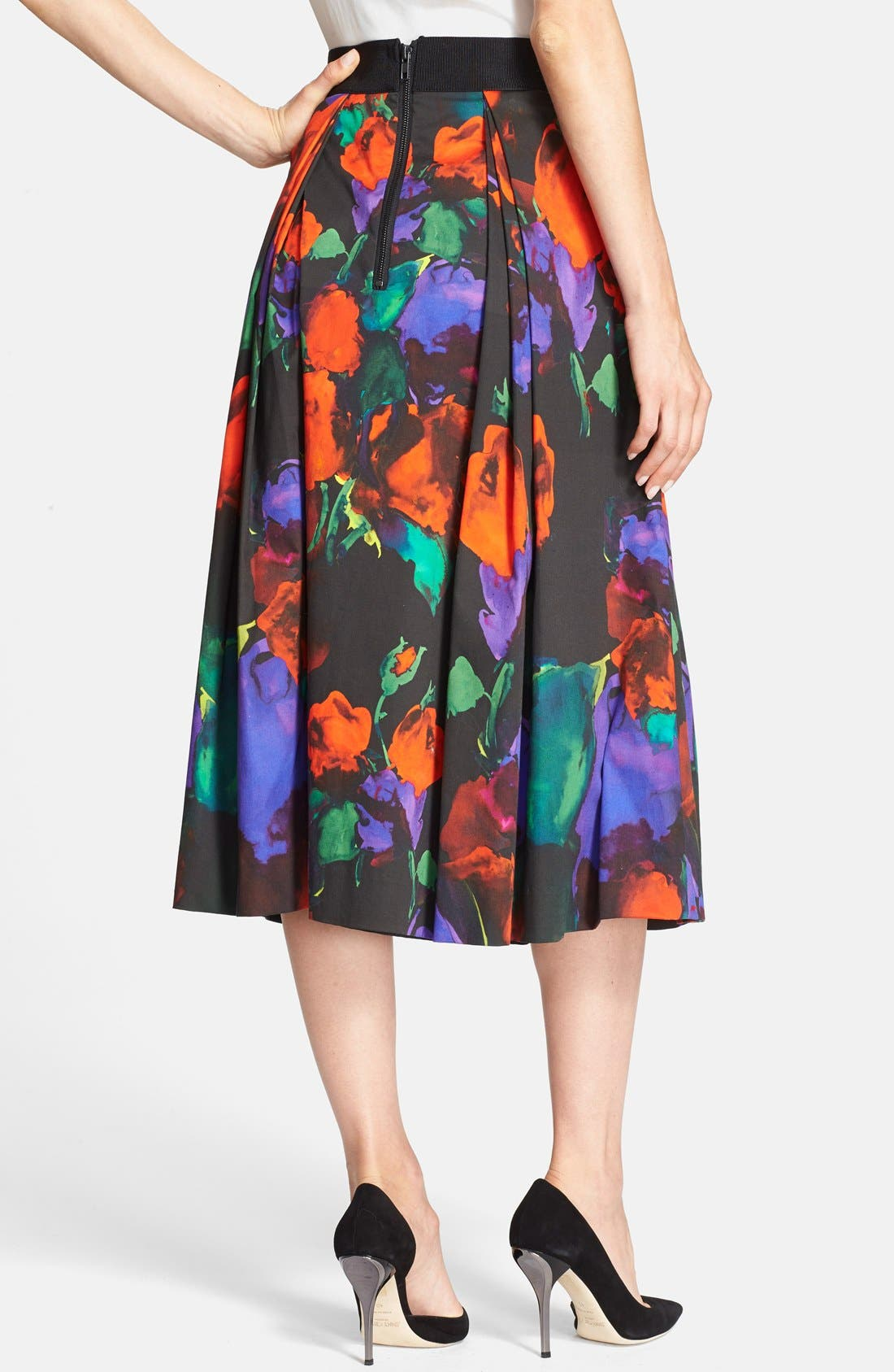 Alternate Image 2  - Milly Pleated Midi Skirt