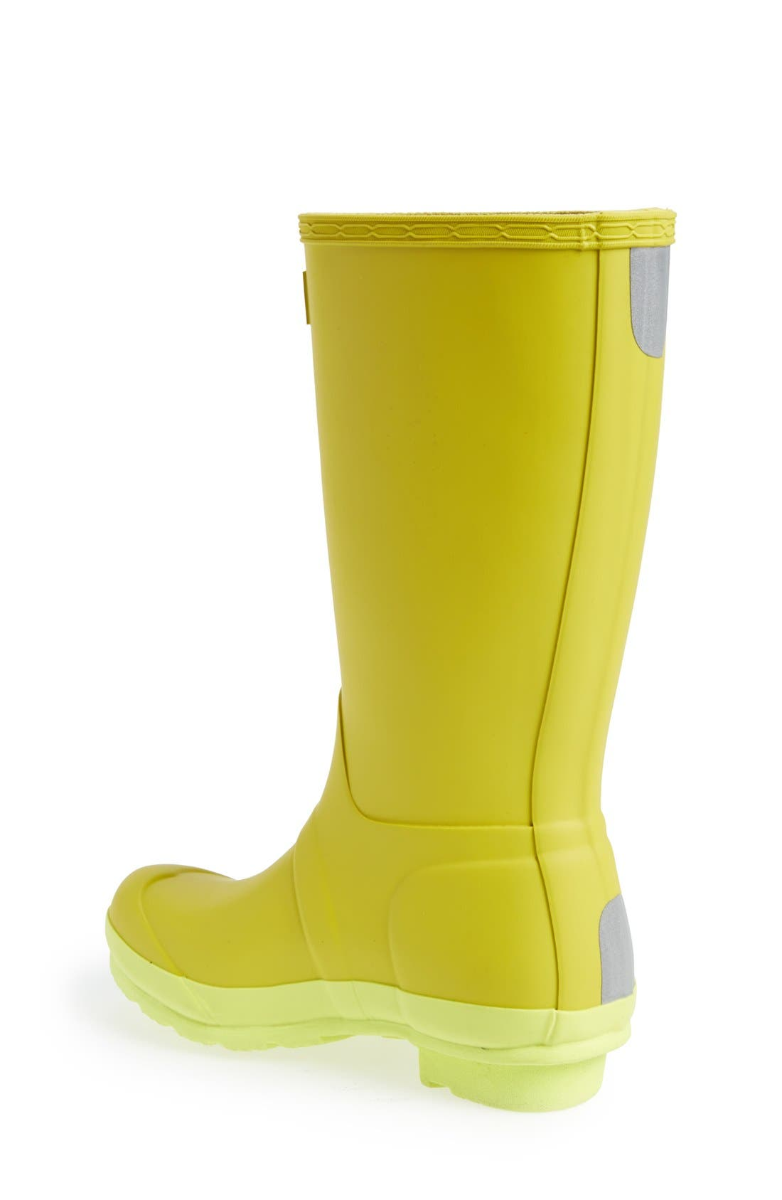 'Original Contrast Sole' Waterproof Rain Boot,                             Alternate thumbnail 2, color,                             Yellow Chartreuse