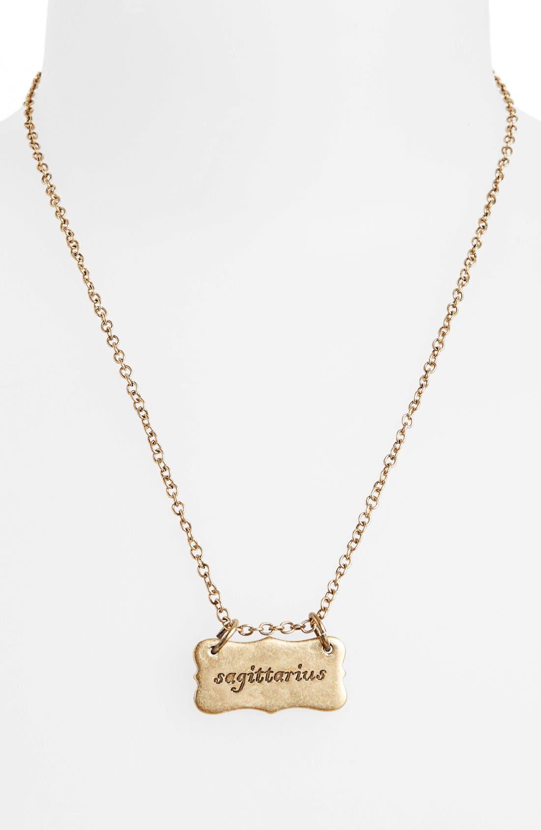 Alternate Image 2  - Berry 'Zodiac - Sagittarius' Reversible Pendant Necklace (Goldtone)
